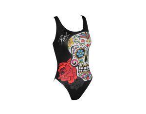 Costume piscina bambina stampato Bone Jr