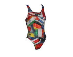 Costume piscina donna stampato Sphere