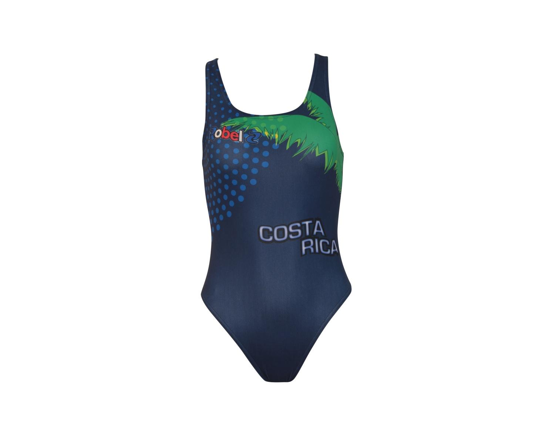 Costume piscina stampato donna Costa Rica