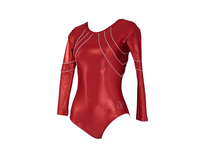 Body ginnastica artistica Papiria Rosso
