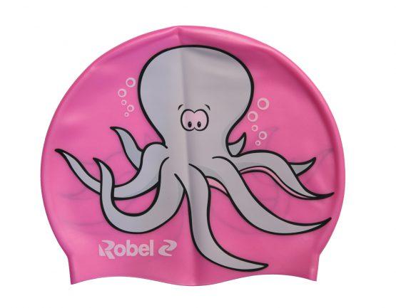 Cuffia silicone piscina Octopus Fuxia