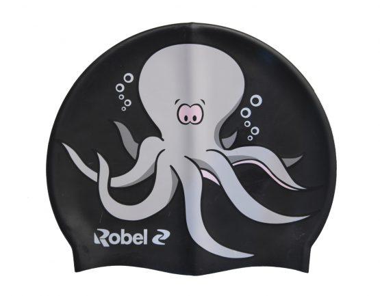 Cuffia silicone piscina Octopus Nero