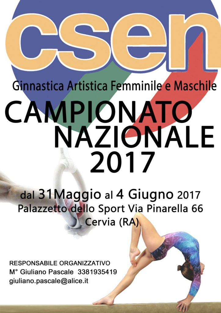 CSEN Campionato Nazionale 2017 Cervia
