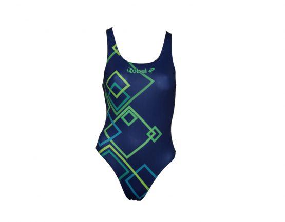 Costume piscina donna stampato Edge