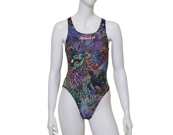 Costume piscina donna stampato Wild